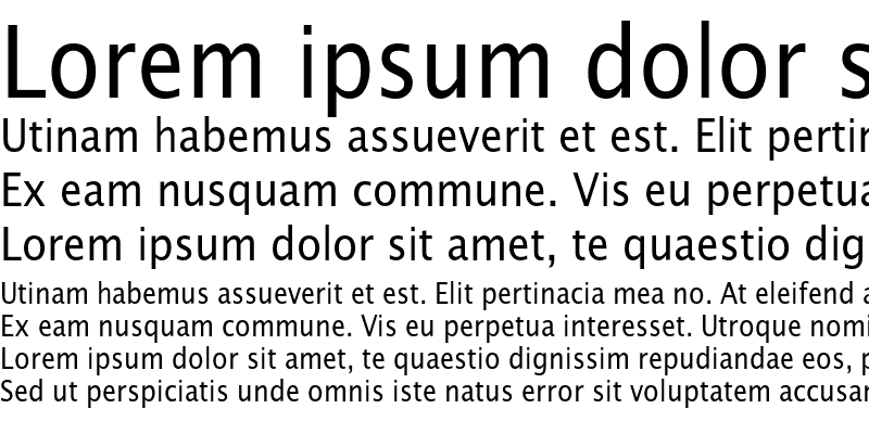 Sample of LucidaSansNarEF