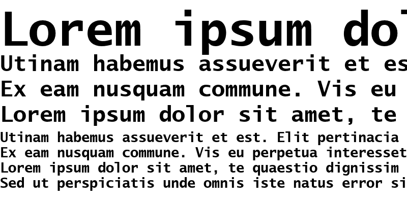 Sample of LucidaSansTypeEF