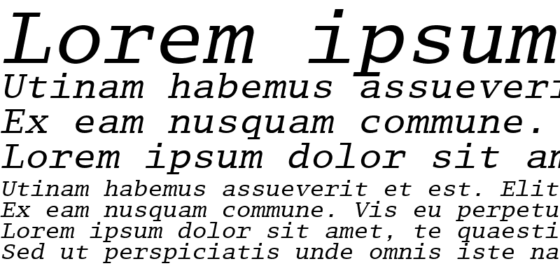 Sample of LucidaTypewriter RomanItalic