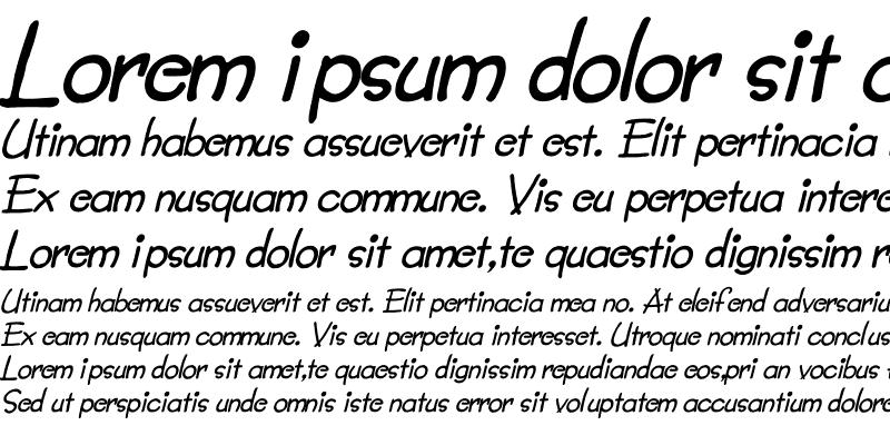 Sample of Lumparsky Italic