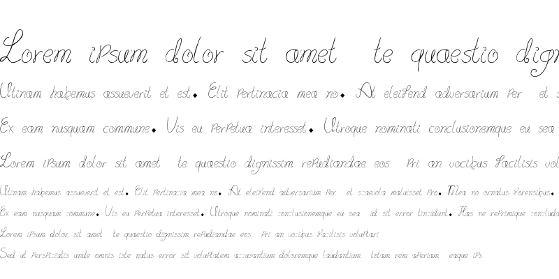 Sample of lydeke Handwrithing