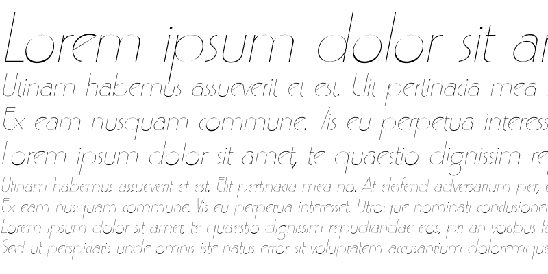 Sample of LydiaBecker Italic