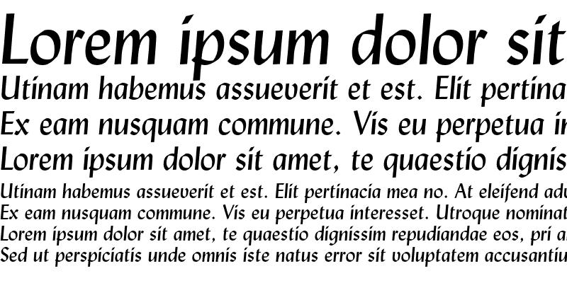 Sample of Lydian Italic