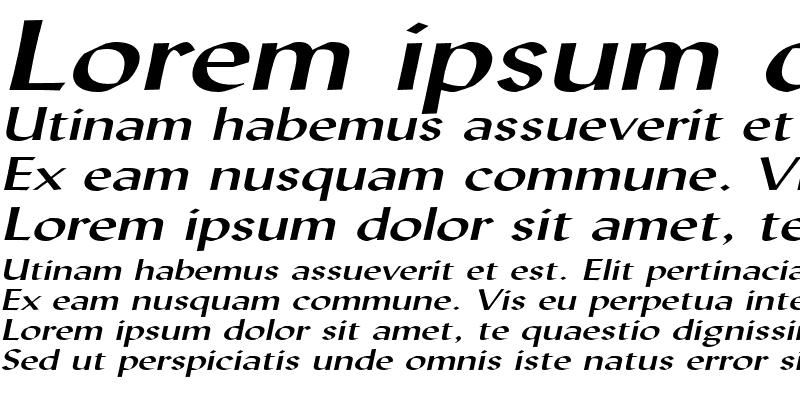 Sample of Lynda Extended Italic