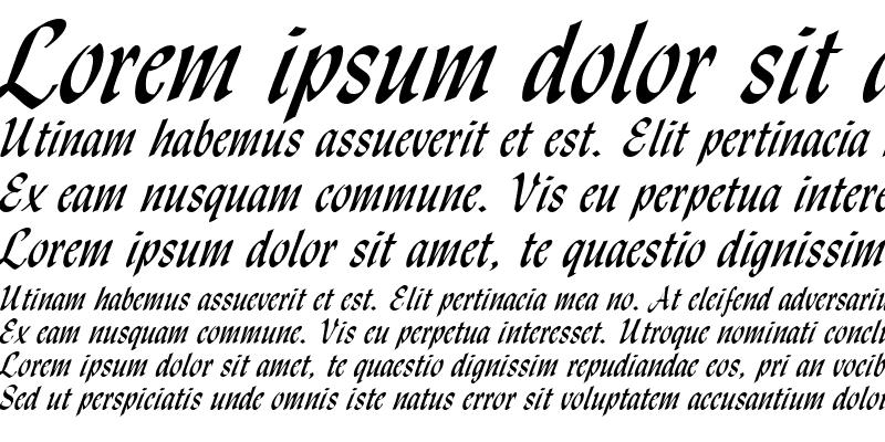 Sample of Lynda Script Regular Regular