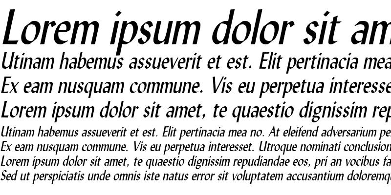 Sample of LyndaCondensed Italic