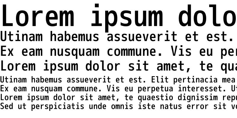 Sample of M+ 1m medium
