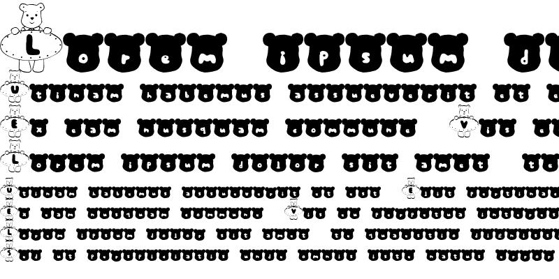 Sample of m-kuma Font
