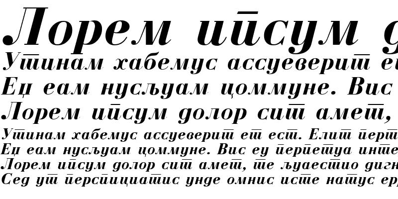 Sample of M_Bodoni Bold Italic