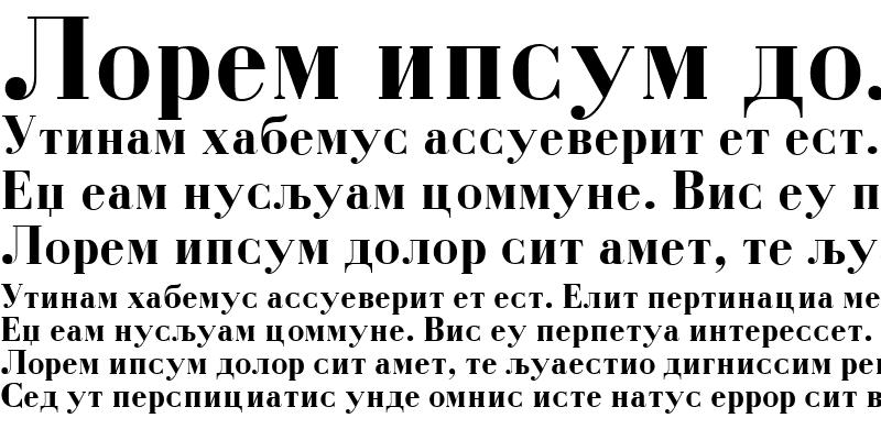 Sample of M_Bodoni Bold