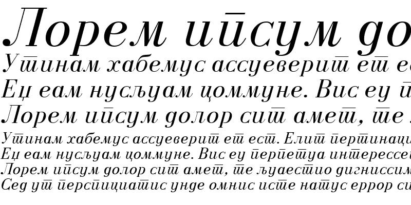 Sample of M_Bodoni Italic