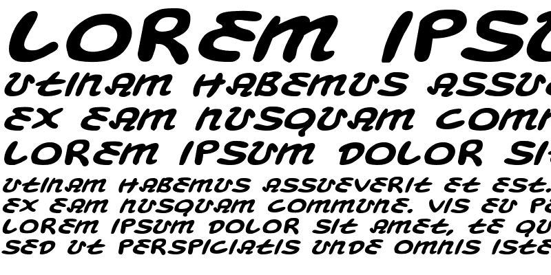 Sample of Magic Beans Expanded Italic