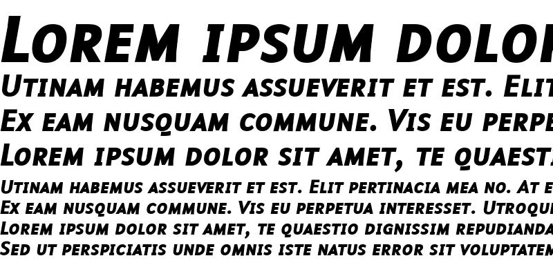 Sample of Malcom ItalicBold