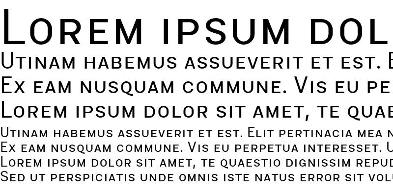 Sample of MalmoSans Regular SC