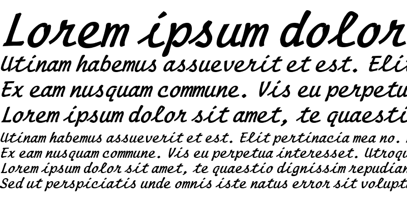 Sample of Manuscript BoldItalic