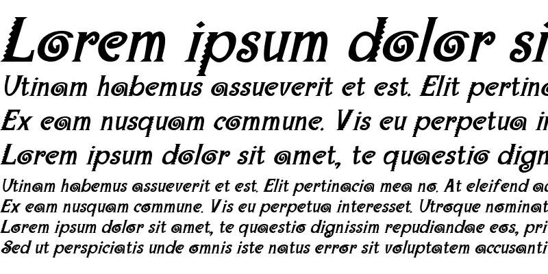 Sample of Maraca Extrabold Italic