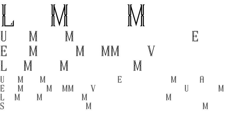 Sample of MarcelCaps Regular