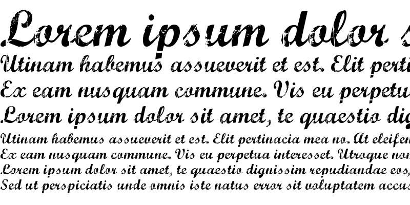 Sample of Marcelle Script Regular