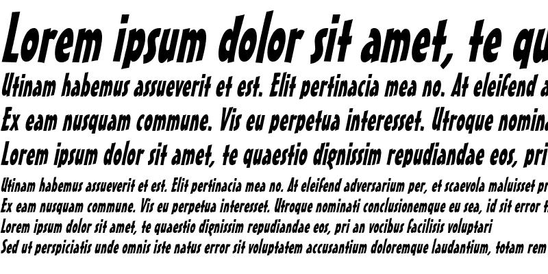 Sample of MasseyCondensed Italic