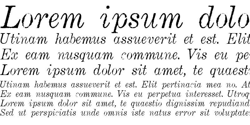 Sample of Matchwood Italic WF