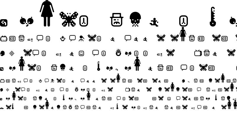 Sample of Matica Dingbats