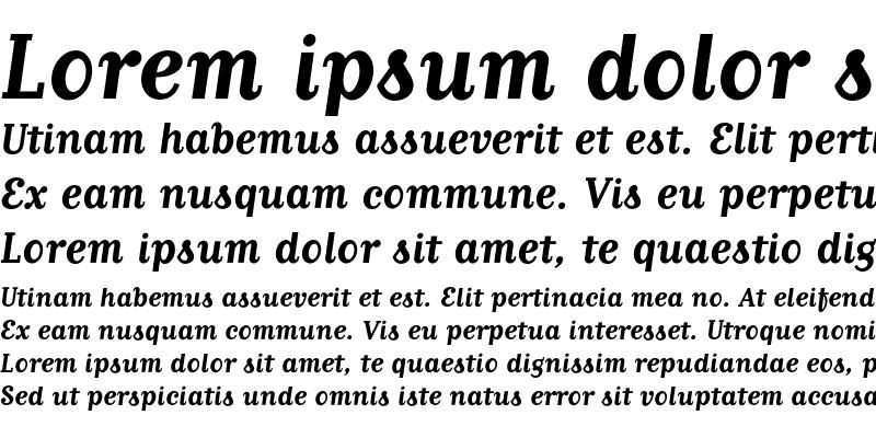 Sample of MatrixScript Bold