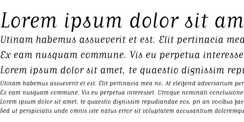 Sample of MatrixScriptBook Regular