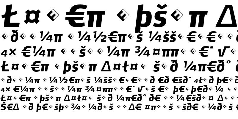 Sample of Max-ExtraBoldItalicExpert