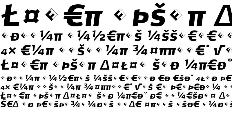 Sample of Max-ExtraBoldItalicSCExpert Regular
