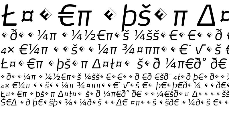 Sample of Max-LightItalicExpert
