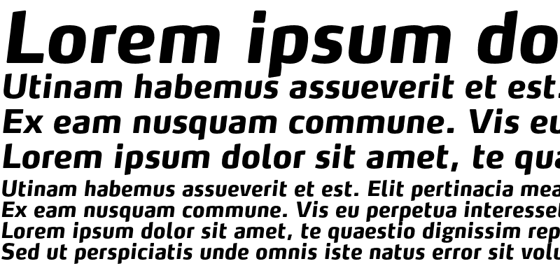 Sample of MaxTF-ExtraBoldItalic