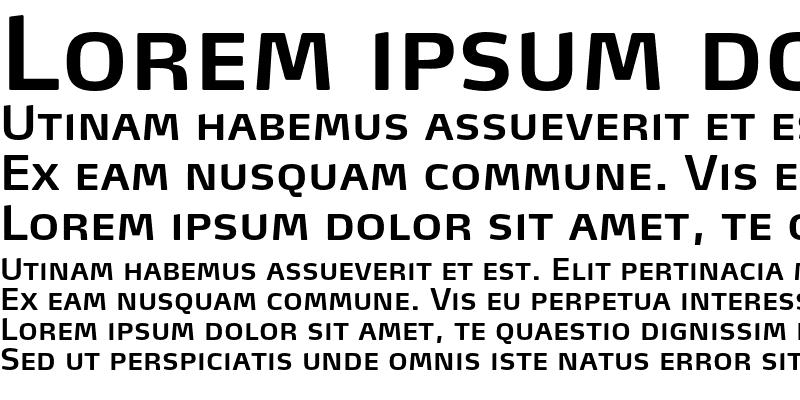 Sample of MaxTF-SemiBoldSC