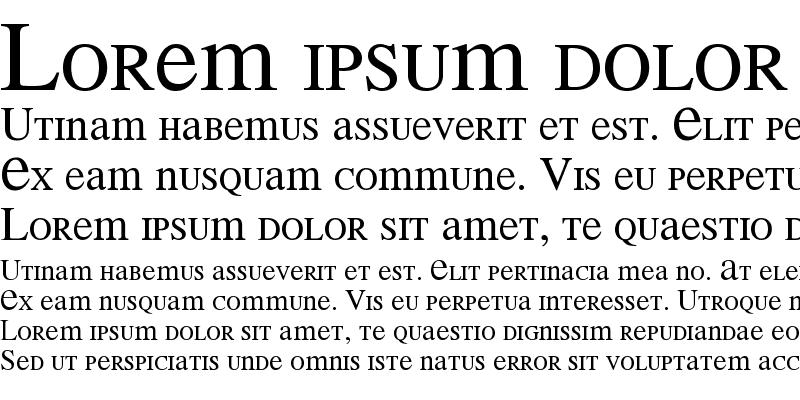 Sample of MEAN 26 Serif
