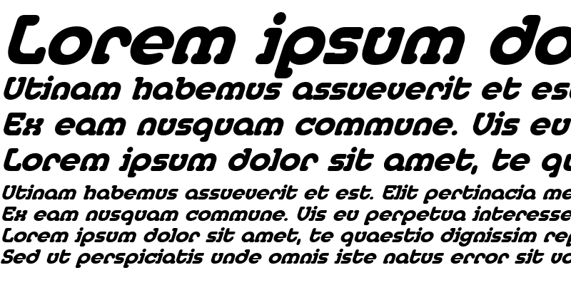 Sample of MedflyHeavy Italic