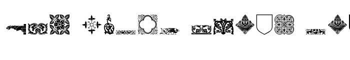 Preview of Medieval Dingbats Regular
