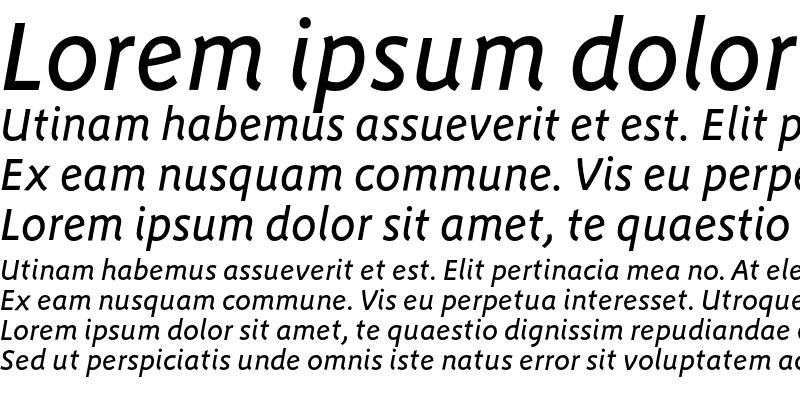 Sample of Megano-MediumItalic