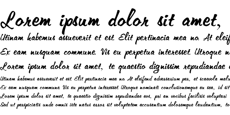 Sample of Memo-Extended Italic
