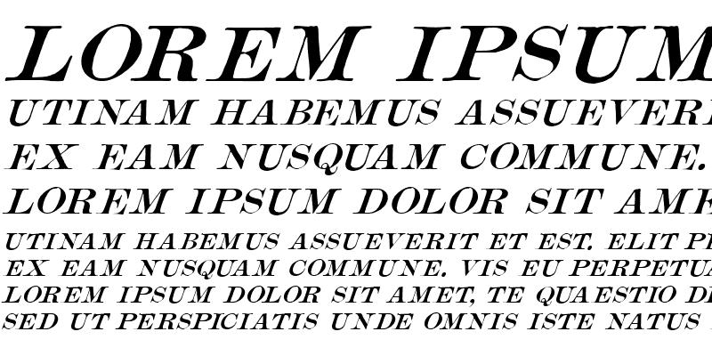 Sample of Mercantile Oblique