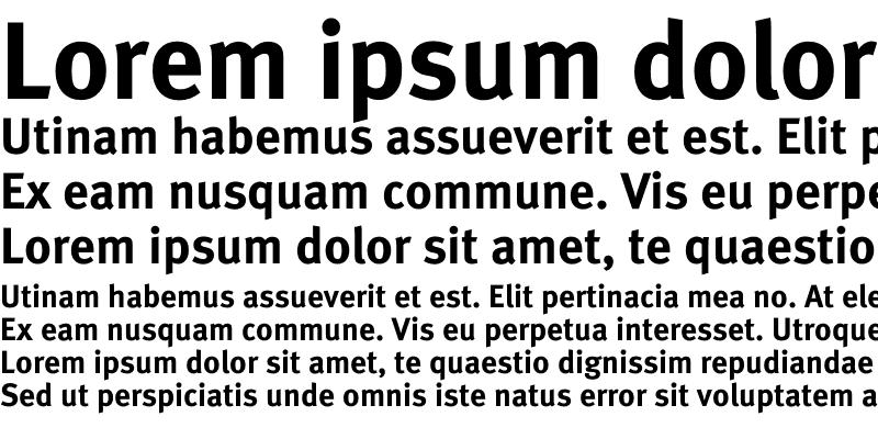 Sample of Meta Lf Roman Bold