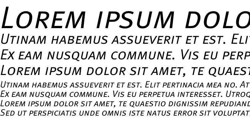 Sample of Meta Normal Caps Italic