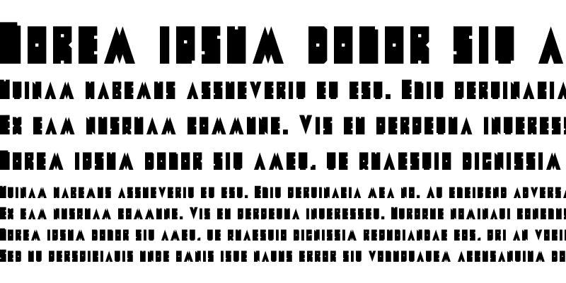 Sample of Metal Font
