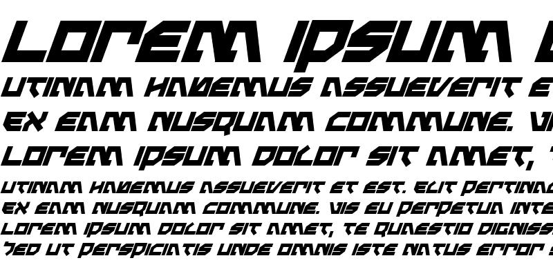 Sample of Metal Storm Bold Italic