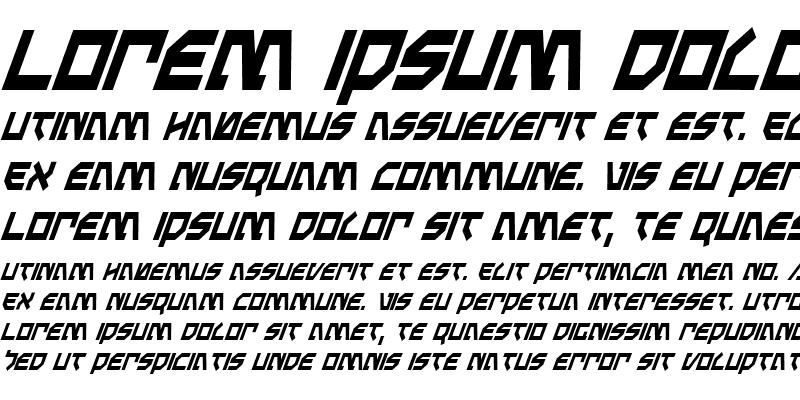 Sample of Metal Storm Condensed Italic Condensed Italic