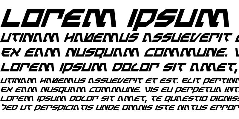 Sample of Metal Storm Italic