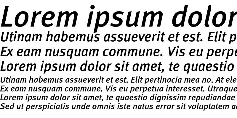 Sample of MetaMediumC Italic