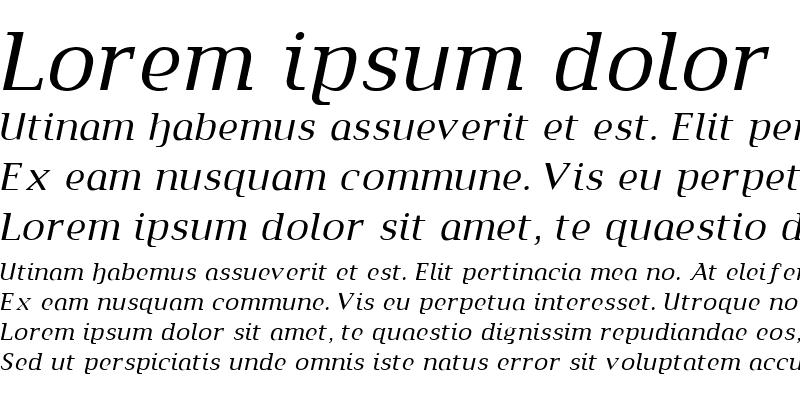 Sample of Metamorphosis Medium Italic