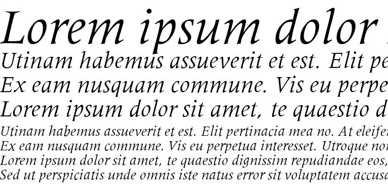 Sample of Metaphor Italic