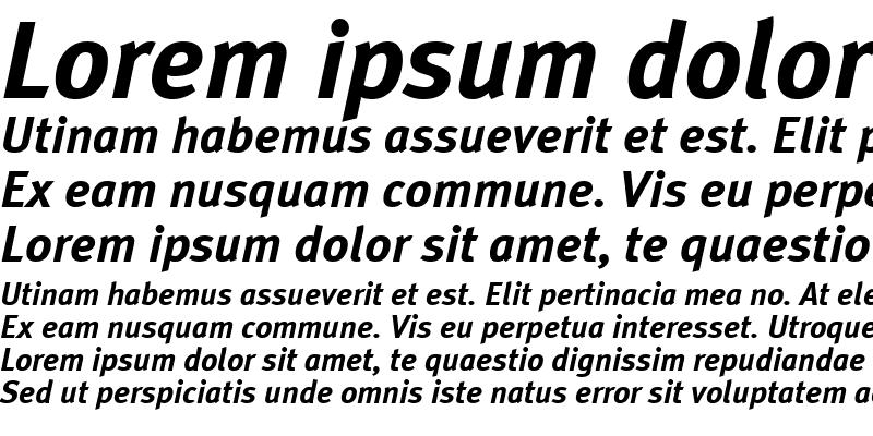 Sample of MetaPlusBold-Italic