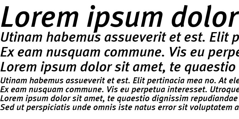 Sample of MetaPlusMedium-Italic