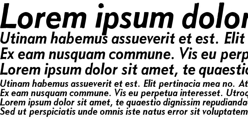Sample of Metro Medium Oblique